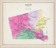 Keene, New Hampshire State Atlas 1892 Uncolored